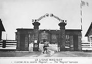 World War 2: The Maginot Line, French defensive installation. The entrance to the Maginot barracks.