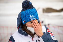 Petra Vlhova (SVK) reacts during 2nd Run of Ladies' Giant Slalom at 57th Golden Fox event at Audi FIS Ski World Cup 2020/21, on January 17, 2021 in Podkoren, Kranjska Gora, Slovenia. Photo by Vid Ponikvar / Sportida