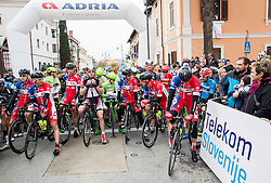 Start of UCI Class 1.2 professional race 3rd Grand Prix Izola, on February 28, 2016 in Izola / Isola, Slovenia. Photo by Vid Ponikvar / Sportida