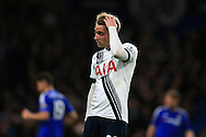 Christian Eriksen of Tottenham Hotspur looks on dejected. Barclays Premier league match, Chelsea v Tottenham Hotspur at Stamford Bridge in London on Monday 2nd May 2016.<br /> pic by Andrew Orchard, Andrew Orchard sports photography.