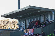The away stand during the EFL Sky Bet League 2 match between Forest Green Rovers and Salford City at the New Lawn, Forest Green, United Kingdom on 18 January 2020.