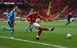 Charlton Athletic's Jake Forster-Caskey gets a shot away