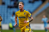 Wimbledon midfielder Mitch Pinnock (11)  during the EFL Sky Bet League 1 match between Coventry City and AFC Wimbledon at the Ricoh Arena, Coventry, England on 12 January 2019.