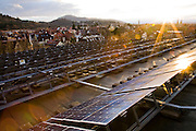 Ganter Brewery in Freiburg im Breisgau, Germany, uses solar photovoltaic panels mounted on the roof to generate electricity for its operations. As part of its new environmental infrastructure, the brewery has also developed a wastewater treatment plant.