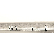 Hasidim at Play at low-tide