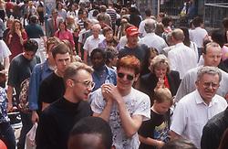 Crowded high street,