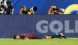 July 19, 2017 - Philadelphia, PA, USA - Philadelphia, PA - Wednesday July 19, 2017: Eric Lichaj celebrates his goal during a 2017 Gold Cup match between the men's national teams of the United States (USA) and El Salvador (SLV) at Lincoln Financial Field. (Credit Image: © Brad Smith/ISIPhotos via ZUMA Wire)
