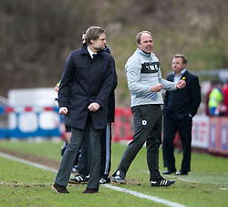 Steven Pressley, Falkirk manager at the end..Hamilton 1 v 2 Falkirk, Scottish Cup quarter-final, Saturday, 2nd March 2013..©Michael Schofield.