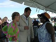 JOhn Corbett, Girlfriend & Star Jones.Polo Mercedes Benz BridgeHampton To Benefit.Leary Foundation.Hosted By Elizabeth hurley & Dennis Leary.BridgeHampton, New York.July 15, 2001.Photo By Antoine Desert/ CelebrityVibe.com..