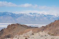 View of Owens Valley from Cerro Gordo Road, in the Inyo Mountains near Keeler, California
