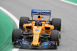 November 10, 2018 - Sao Paulo, Sao Paulo, Brazil - FERNANDO ALONSO, of McLaren Honda, during the free practice session for the Formula One Grand Prix of Brazil at Interlagos circuit, in Sao Paulo, Brazil. The grand prix will be celebrated next Sunday, November 11. (Credit Image: © Paulo LopesZUMA Wire)