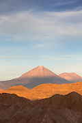 Death Valley and Lascar Volcano, Atacama Desert, Chile, South America