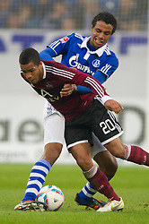 19.11.2011, Veltins Arena, Gelsenkirchen, GER, 1. FBL, FC Schalke 04 vs 1. FC Nuernberg, im Bild Zweikampf Joel Matip (#32 Schalke) - Daniel Didavi (#20 Nuernberg) // during FC Schalke 04 vs. 1. FC Nuernberg at Veltins Arena, Gelsenkirchen, GER, 2011-11-19. EXPA Pictures © 2011, PhotoCredit: EXPA/ nph/ Kurth..***** ATTENTION - OUT OF GER, CRO *****