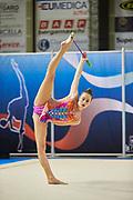 Giada Lideo from Rhytmic School team during the Italian Rhythmic Gymnastics Championship in Padova, 25 November 2017.
