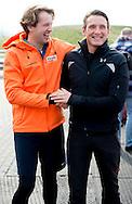 BIDDINGHUIZEN - Prins Maurits  en prins floris tijdens de tweede editie van De Hollandse 100 op FlevOnice, een sportief evenement van fonds Lymph en Co ter ondersteuning van onderzoek naar lymfeklierkanker.  COPYRIGHT ROBIN UTRECHT <br /> BIDDINGHUIZEN -  During the second edition of the Dutch 100 on FlevOnice, a sporting event fund Lymph and Co. to support research into lymphoma. COPYRIGHT ROBIN UTRECHT