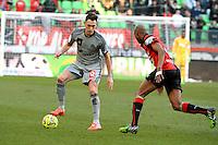 Lucas OCAMPOS - 07.02.2015 - Rennes / Marseille - 24eme journee de Ligue 1<br /> Photo : Gaston Petrelli / Icon Sport