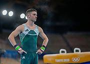 Irelands Rhys McCelaghan competes in Mens Artistic Gymnastics, Ariake Gymnastics Centre, Tokyo. Tokyo 2020 Olympic Games. Saturday 24th July 2021. Mandatory credit: © John Cowpland / www.photosport.nz