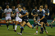 Cory Allen of Cardiff Blues © runs in to score his 1st try of the match. European rugby challenge cup match, pool 4, Cardiff Blues v Pau at the BT Sport Cardiff Arms Park in Cardiff, South Wales on Friday 21st October 2016.<br /> pic by Andrew Orchard, Andrew Orchard sports photography.