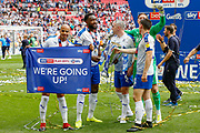 *** during the EFL Sky Bet League 2 Play Off Final match between Newport County and Tranmere Rovers at Wembley Stadium, London, England on 25 May 2019.