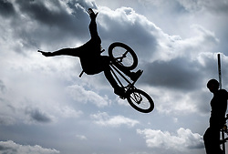 BMX riders the Brownstock Festival in Essex.