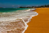 Beach at Unawatuna, south coast of Sri Lanka.