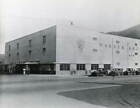 1938 Warner Bros. studio in Burbank