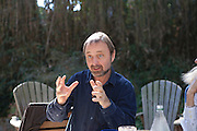 Frans Lanting at brunch at David Griffin and Kathy Moran's in Arlington, VA