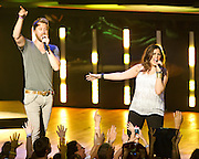 COLUMBIA, MD -  May 20th, 2012 - Charles Kelley and Hillary Scott of the Grammy Award-winning group Lady Antebellum perform to a packed house at Merriweather Post Pavilion in COlumbia, MD.  The group's last album, We Own The Night, reached #1 on the US Billboard 200. (Photo by Kyle Gustafson/For The Washington Post)