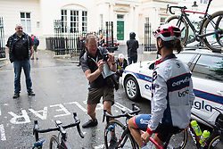 Ashleigh Moolmann-Pasio (RSA) of Cervélo-Bigla Cycling Team poses for a photo before the Prudential Ride London Classique - a 66 km road race, starting and finishing in London on July 29, 2017, in London, United Kingdom. (Photo by Balint Hamvas/Velofocus.com)