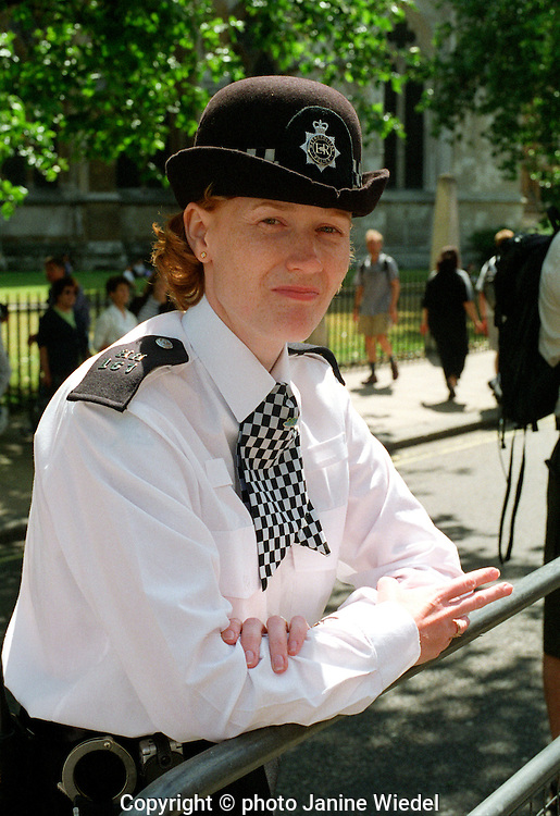 police woman in central London.