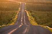 Canada. Northwest Territory. Traveling Dempster Highway, near Fort McPherson heading north, mid summer.