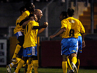 Photo: Richard Lane.<br />Bristol Rovers v Wycombe Wanderers. Coca Cola League 2. 08/08/2006. <br />Wycombe's Tommy Mooney celebrates his goal.