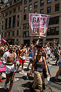 New York, NY - 25 June 2017. New York City Heritage of Pride March filled Fifth Avenue for hours with groups from the LGBT community and it's supporters. Marchers from Gays Against Guns.