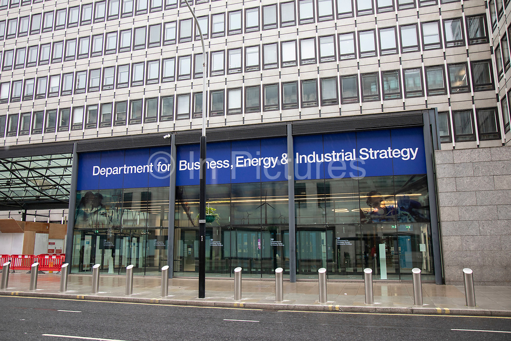 Department for Business, Energy and Industrial Strategy on 2nd October 2021 in London, United Kingdom. The Department for Business, Energy and Industrial Strategy BEIS is a department of the government of the UK. The department was formed during a machinery of government change on 14 July 2016, following Theresa Mays appointment as Prime Minister, through a merger between the Department for Business, Innovation and Skills BIS and the Department of Energy and Climate Change.