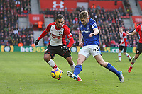 Football - 2017 / 2018 Premier League - Southampton vs. Everton<br /> <br /> Jonjoe Kenny of Everton clears from Southampton's Sofiane Boufal at St Mary's Stadium Southampton<br /> <br /> COLORSPORT/SHAUN BOGGUST