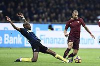 Geoffrey Kondogbia, Bruno Peres<br /> Milano 26-02-2017 Football Calcio serie A 2016/2017 Inter - AS Roma foto Image Sport/Insidefoto