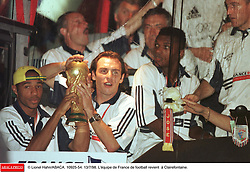 ©Lionel Hahn/ABACA.10925.54.Paris-France,12/07/ 1998. France made soccer history here on Sunday night, when the underdogs beat defending champions Brazil 3-0 to win the last World Cup this century before a delirious crowd of 80,000 people.