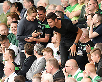 01/07/15 PRE-SEASON FRIENDLY MATCH<br /> CELTIC V DEN BOSCH<br /> ST MIRREN PARK - PAISLEY<br /> Celtic stars Stefan Johansen (left) and Nir Biton in the stands.