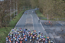 Heading out toward the cobbles - Le Samyn des Dames 2016, a 113km road race from Quaregnon to Dour, on March 2, 2016 in Hainaut, Belgium.