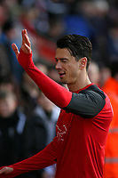 Football - 2016 / 2017 Premier League - Southampton vs. West Bromwich Albion<br /> <br /> Southampton's Jose Fonte waves and winks at the crowd before kick off at St Mary's Stadium Southampton England<br /> <br /> COLORSPORT/SHAUN BOGGUST