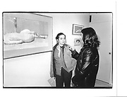 "Lisa Coleman, Elaine Mafrett. (Lisa Colemn modelled for painting ""Articulation"") Euan Uglow private view, Browse and Darby, Cork St. London 30 apr 97© Copyright Photograph by Dafydd Jones 66 Stockwell Park Rd. London SW9 0DA Tel 020 7733 0108 www.dafjones.com"