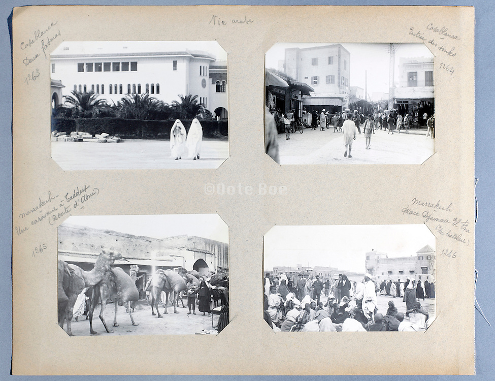 early 1900s photo album with a trip through Morocco and the city Casablanca and Marrakech