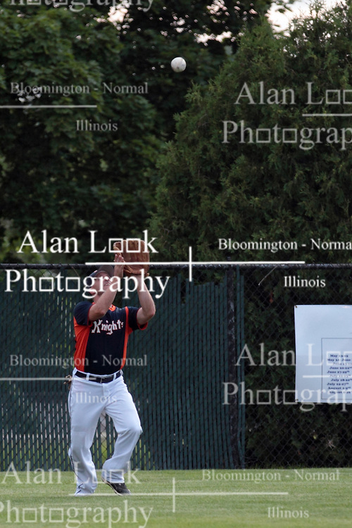 27 June 2014:   Justin Goodwin during a Mens Professional Fastpitch Softball game between the Central Illinois Knights from Villa Grove and the Bloomington Stix from Bloomington, played at O'Neil Park in Bloomington, Illinois