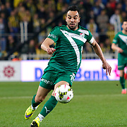 Bursaspor's Volkan Sen during their Turkish superleague soccer match Fenerbahce between Bursaspor at the Sukru Saracaoglu stadium in Istanbul Turkey on Monday 20 April 2015. Photo by Kurtulus YILMAZ/TURKPIX