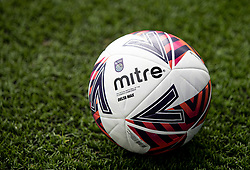 BIRKENHEAD, ENGLAND - Sunday, August 29, 2021: The Mitre Delta match ball during the FA Women's Championship game between Liverpool FC Women and London City Lionesses FC at Prenton Park. London City won 1-0. (Pic by Paul Currie/Propaganda)