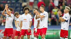 19.08.2014, Red Bull Arena, Salzburg, AUT, UEFA CL, FC Red Bull Salzburg vs Malmö FF, Play Off, Hinspiel, im Bild v.l.: Franz Schiemer (FC Red Bull Salzburg), Christian Schwegler (FC Red Bull Salzburg), Andre Ramalho (FC Red Bull Salzburg), Alan de Carvalho (FC Red Bull Salzburg), Stefan Ilsanker (FC Red Bull Salzburg), Kevin Kampl (FC Red Bull Salzburg) // during the UEFA Championsleague 1st Leg, Play Off Match between FC Red Bull Salzburg and Malmoe FF at the Red Bull Arena in Salzburg, Austria on 2014/08/19. EXPA Pictures © 2014, PhotoCredit: EXPA/ JFK