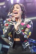 DEMI LOVATO performs at the Hot 99.5 Jingle Ball at the Verizon Center in Washington, D.C.