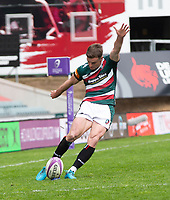 Rugby Union - 2020 / 2021 ER Challenge Cup - Quarter-Final - Leicester Tigers  vs Newcastle Falcons - Welford Road<br /> <br /> Johnny McPhillips of Leicester Tigers converts a conversion to make it 39-15<br /> <br /> Credit : COLORSPORT/BRUCE WHITE