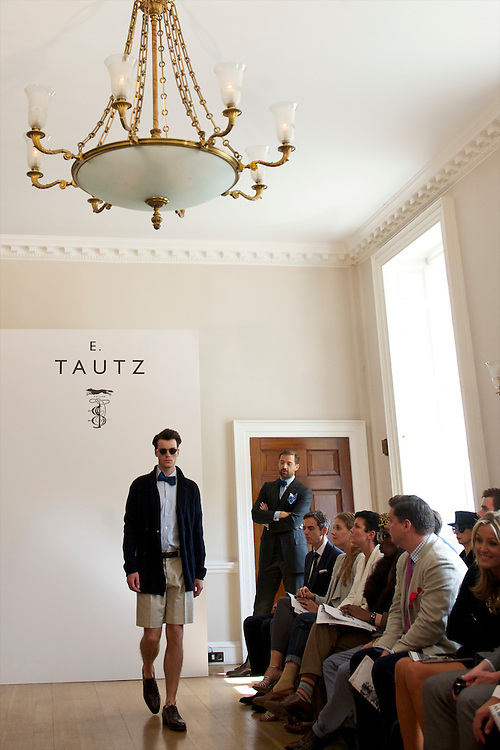 Models show the spring 2011 E Tautz collection in the Naval Board Rooms, Somerset House, London on 22  September 2010..