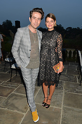 NICK GRIMSHAW and PIXIE GELDOF at a party hosed by the US Ambassador to the UK Matthew Barzun, his wife Brooke Barzun and editor of UK Vogue Alexandra Shulman in association with J Crew to celebrate London Fashion Week held at Winfield House, Regent's Park, London on 16th September 2014.